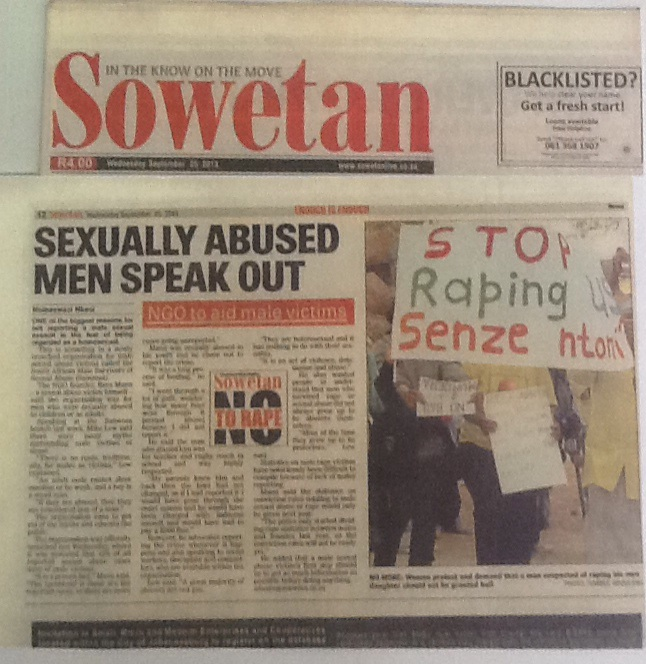 SOWETAN  25 SEPTEMBER 2013. (90 COLUMN CENTIMETRES)